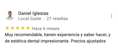 opiniones clinica dental mosqueira